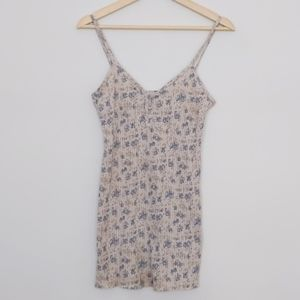 Tops - 🌟2 for $20🌟Vintage floral cream blue ribbed tank
